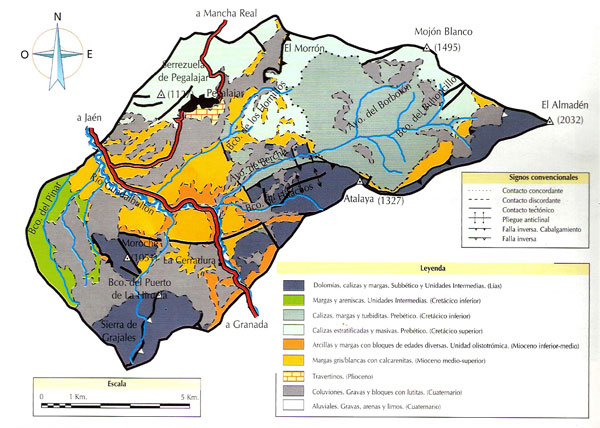 Mapa Geológico de Pegalajar