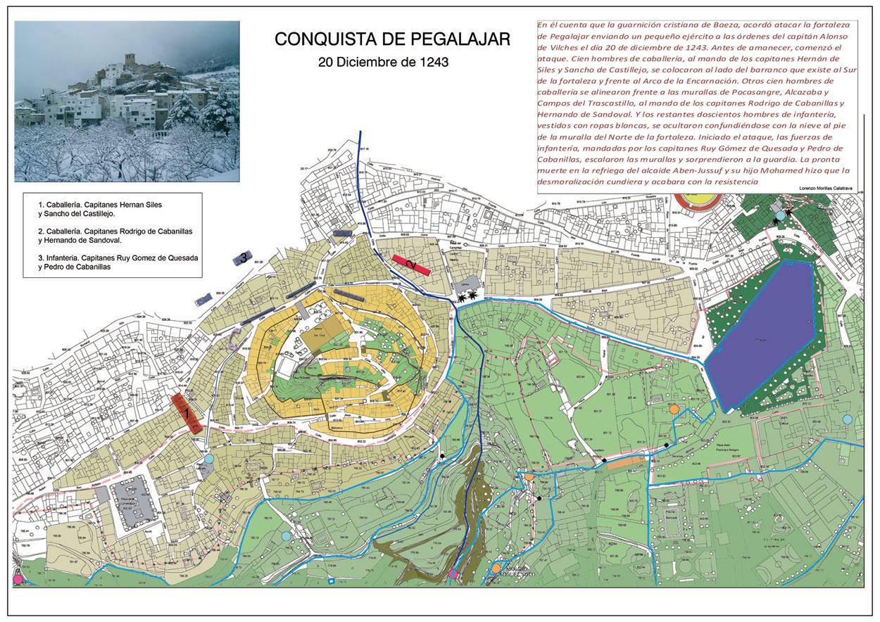 Mapa de la Conquista de Pegalajar