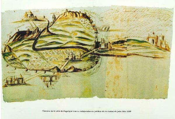 Mapa de Pegalajar tras su Independencia en 1559