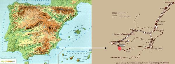 Mapa Vía Romana