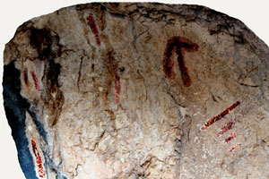 Pinturas rupestres abrigo de la Serrezuela
