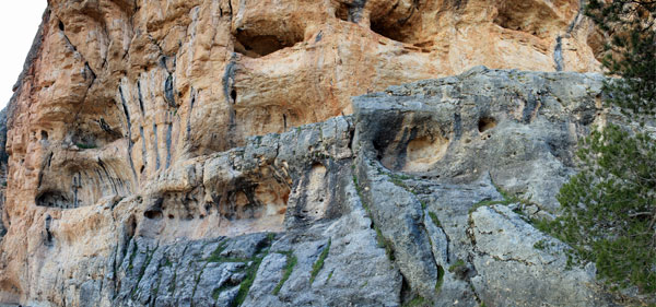 Vista General de la Fortaleza de la Peña de los Buitres